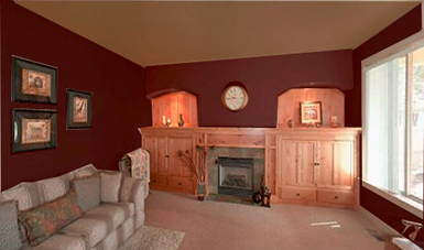 Color Advice When To Paint ACCENT Walls Devine Colors Blog - Deep red accent wall