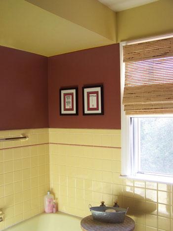 Bathrooms Paint Colors For Retro Yellow Tile